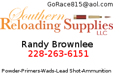 Southern Reloading - Powder - Primers - Wads - Lead Shot - Ammunition